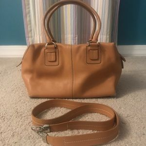 Tod's Camel Smooth Leather Satchel